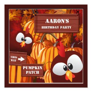 Halloween Birthday Pumpkin Patch Kid's Card