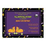 "Halloween Birthday Roller Party Invitation 5"" X 7"" Invitation Card"