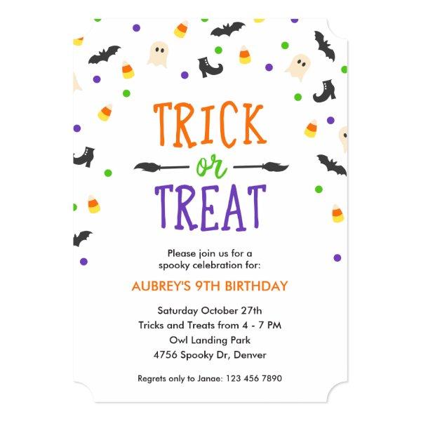 Halloween Birthday | Spooky Celebration | Party Invitation