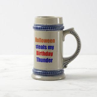 Halloween Birthday Thunder Beer Stein