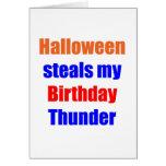 Halloween Birthday Thunder Greeting Card