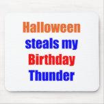 Halloween Birthday Thunder Mousepad