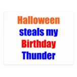 Halloween Birthday Thunder Post Cards