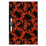 Halloween Black and Orange Swirl Decoration Dry-Erase Whiteboard