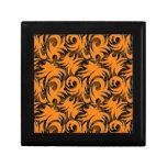 Halloween Black and Orange Swirl Decoration Trinket Box