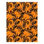 Halloween Black and Orange Swirl Decoration Letterhead