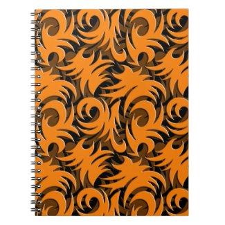 Halloween Black and Orange Swirl Decoration Journal