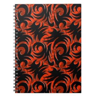 Halloween Black and Orange Swirl Decoration Journals