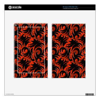 Halloween Black and Orange Swirl Decoration Kindle Fire Decals