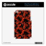 Halloween Black and Orange Swirl Decoration iPod Touch 4G Skins