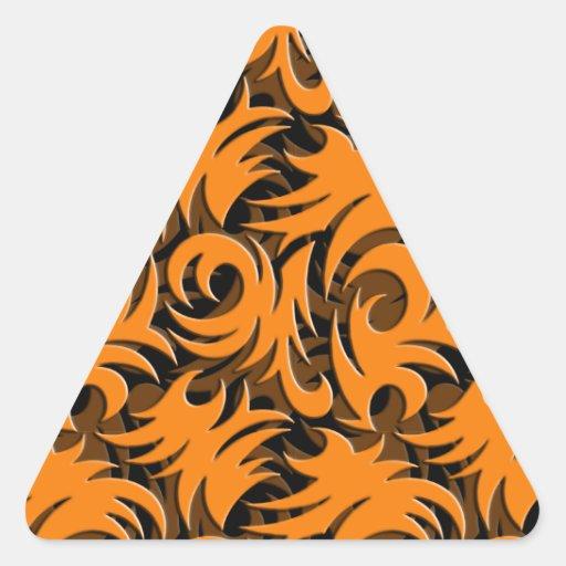 Halloween Black and Orange Swirl Decoration Sticker