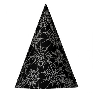 Halloween Black and White Cobweb Party Hat