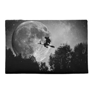 Halloween Black and White Witch Travel Accessory Bags