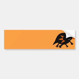 Halloween Black Axolotl Bumper Sticker