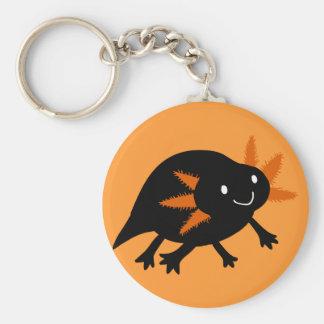 Halloween Black Axolotl Keychain