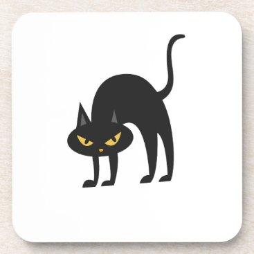 Halloween Themed Halloween Black Cat 2017 Gift Beverage Coaster