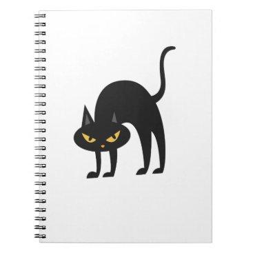 Halloween Themed Halloween Black Cat 2017 Gift Notebook
