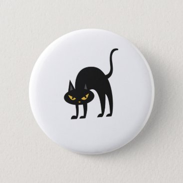 Halloween Themed Halloween Black Cat 2017 Gift Pinback Button