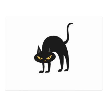 Halloween Themed Halloween Black Cat 2017 Gift Postcard