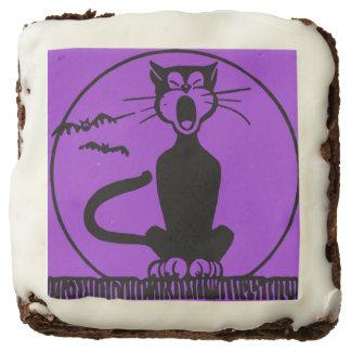 """Halloween Black Cat 2"""" by 2"""" Brownies Square Brownie"""
