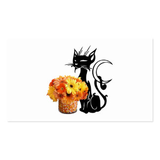 Halloween Black Cat and Candy Corn Business Card