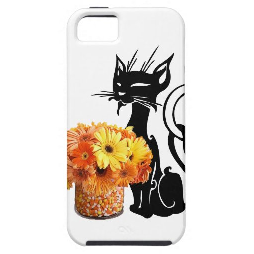 Halloween Black Cat and Candy Corn iPhone 5 Cover