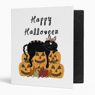 Halloween Black Cat and Pumpkins Binder