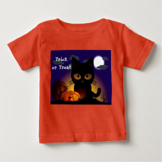 Halloween Black Cat Baby T-Shirt