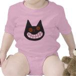Halloween Black Cat Baby Tee Shirts