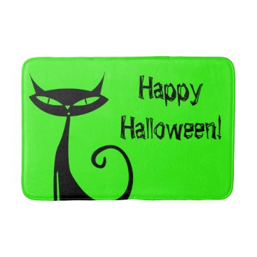 Halloween Themed Halloween Black Cat Bath Mat