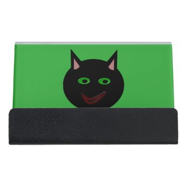 Professional Business Halloween Black Cat Business Card Holder