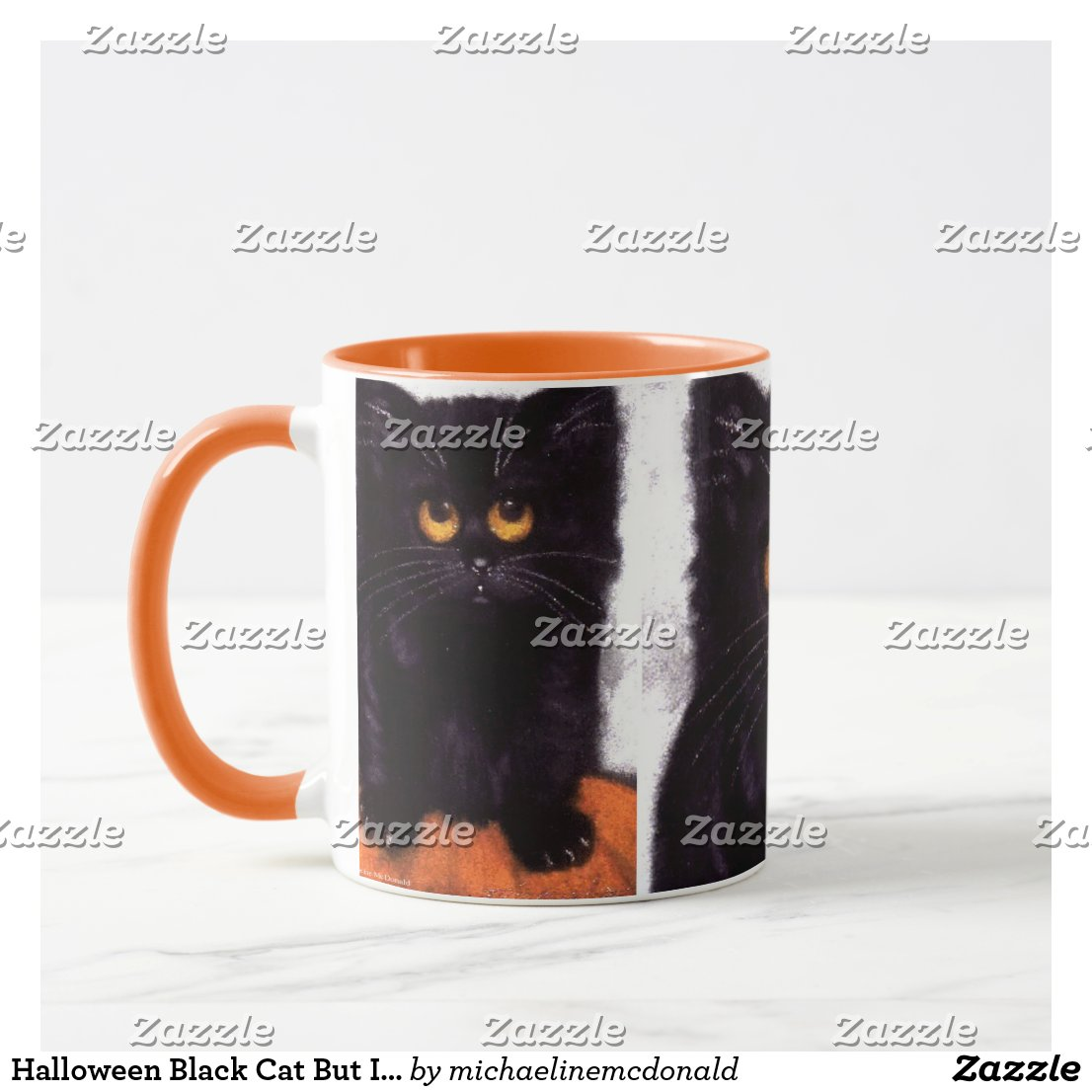 Halloween Black Cat But I'm Cute Mug