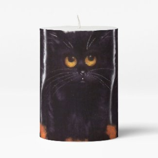 Halloween Black Cat Candle - But I'm Cute