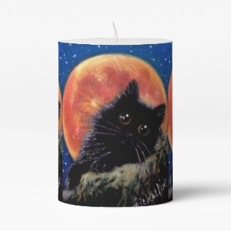 Halloween Black Cat Candle - Muggin Moon