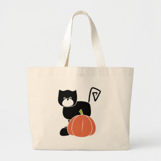 Halloween black cat canvas bags