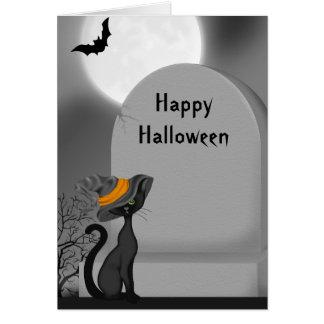 Halloween Black Cat Card