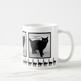 Halloween Black Cat Coffee Mugs