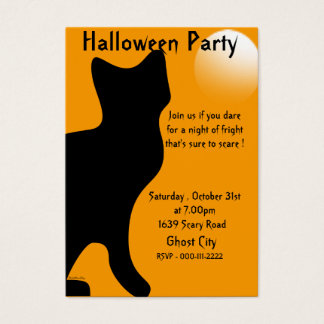 Halloween Black Cat - Customized Business Card