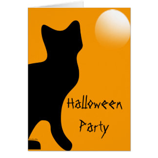 Halloween Black Cat - Customized Card
