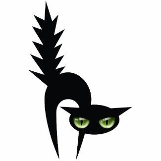 Halloween Black Cat Decoration photosculpture