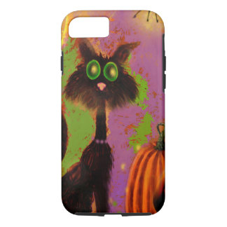 Halloween Black Cat Design iPhone 7 Case