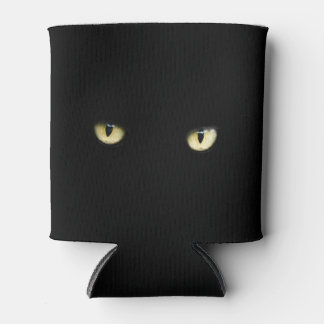 Halloween Black Cat Eyes Can/ Bottle Cooler