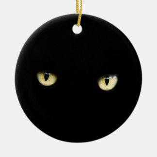 Halloween Black Cat Eyes Ornament