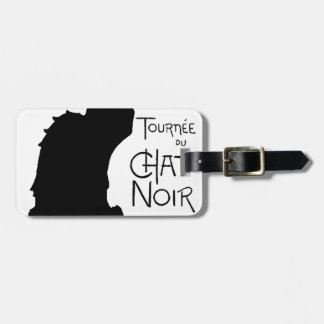 Halloween Black Cat French Words Chat Noir Text Luggage Tag