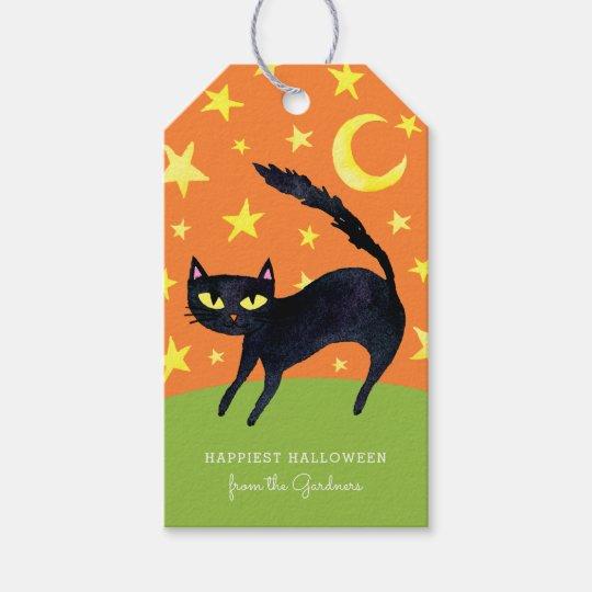 Halloween Black Cat Gift Tags Zazzlecom