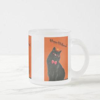 Halloween Black Cat Glass Mug Variety Set