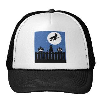 Halloween Black Cat Trucker Hat