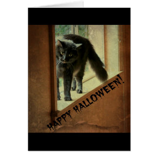 Halloween Black Cat, have a frightful good time! Card