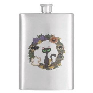 Personalized Trick or Treat Flasks For Grown Ups
