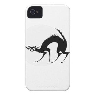 Halloween Black Cat in the Moonlight iPhone 4 Case-Mate Case